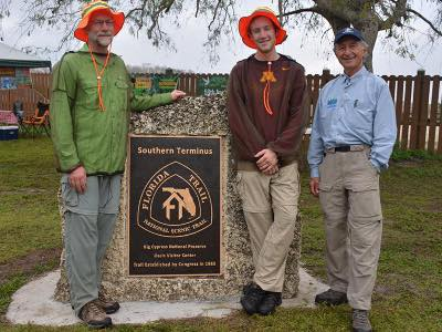 Florida Trail southern terminus with Jim Kern