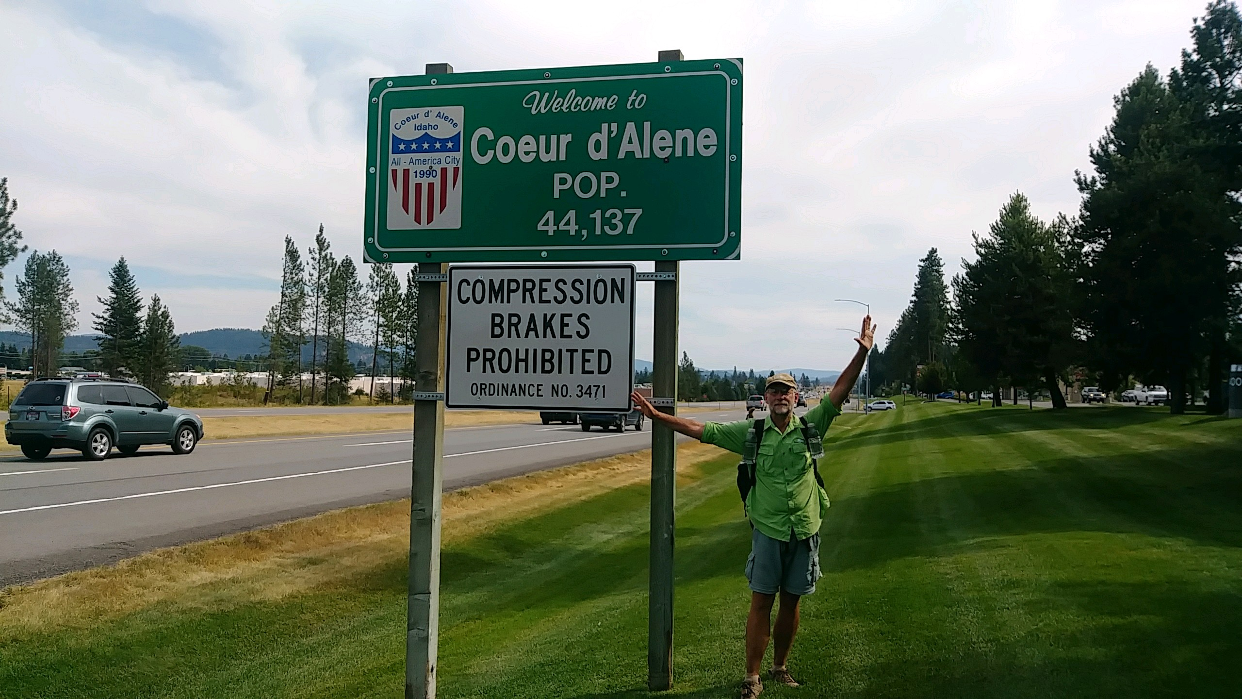 Hitchhiking to Coeur d Alene